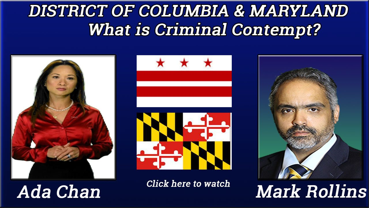 Criminal Contempt in the District of Columbia