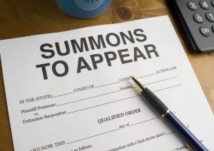 Criminal Summons to appear in Maryland