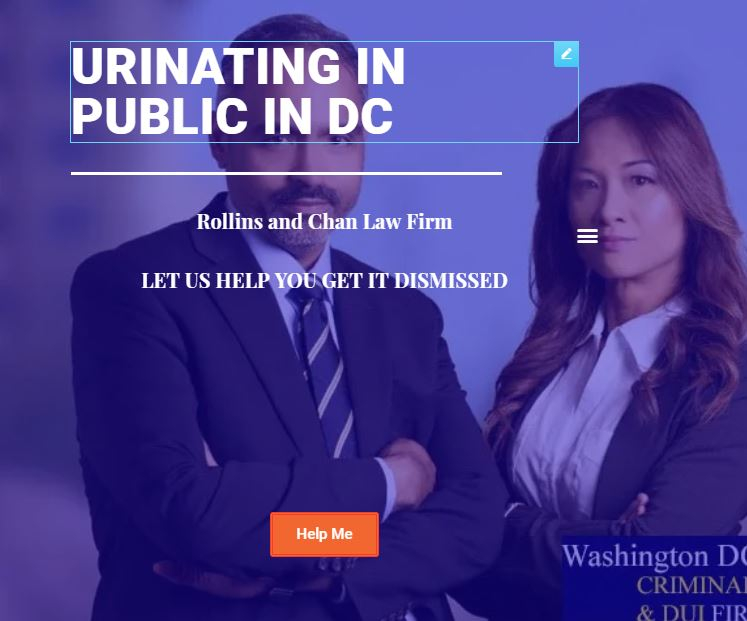 urinating in public in DC
