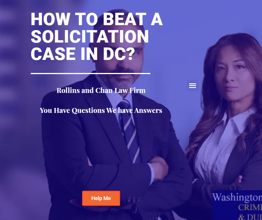How to beat solicitation case in DC