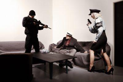 law enforcement officials effectuating an arrest warrant