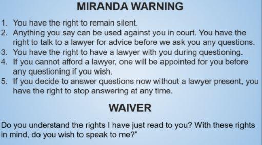 What are you miranda warnings